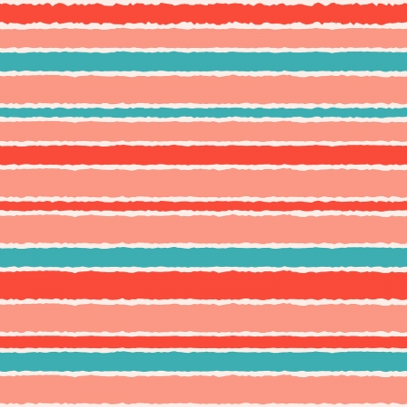 Seamless ethnic pattern in pastel pink, blue and red. Vector