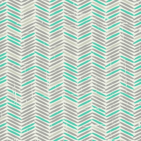 Vintage seamless pattern in grey and green. Vector