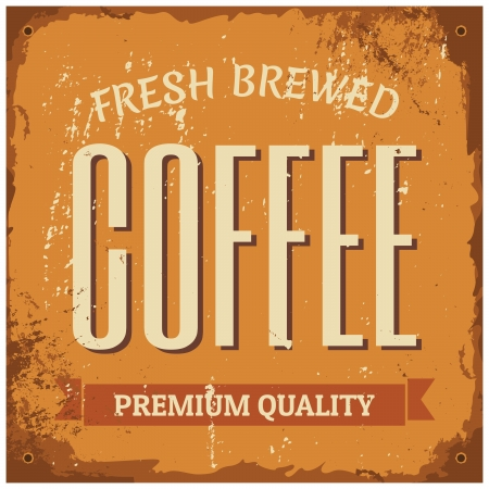 fresh brewed: Vintage style tin sign Fresh Brewed Coffee.