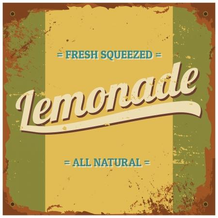 Vintage style tin sign Fresh Squeezed Lemonade.