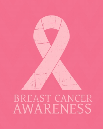 Vintage style Breast Cancer Awareness poster. Vector