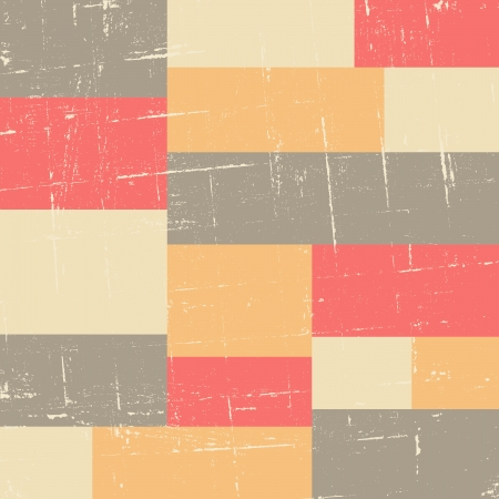 vintage colors: Seamless vintage style pattern with rectangles in pastel colors.