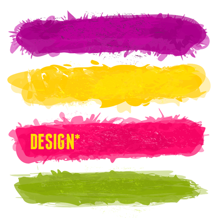 A set of colorful banners with copy-space isolated on white. Vector
