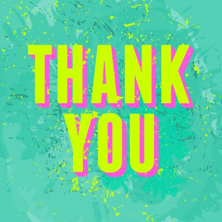 Abstract Thank You greeting card design. Stock Vector - 22682770