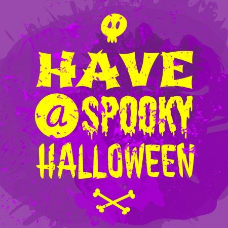 Typographic Halloween greeting card design. Vector