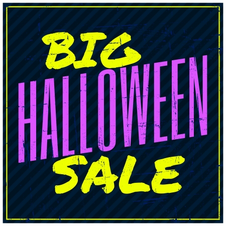 Typographic design Halloween sale poster. Stock Vector - 22682773