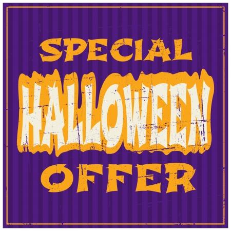 Typographic design Halloween sale poster. Vector