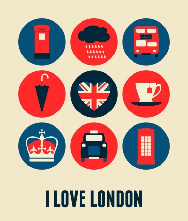London greeting card design. Vector