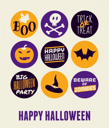 Halloween greeting card design. Vector