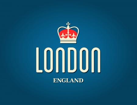 Elegant London greeting card design. Stock Vector - 23516167