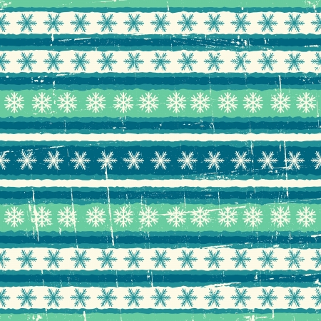 Vintage seamless winter pattern in blue and white. Vector