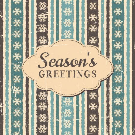 Vintage style greeting card for Christmas. Vector