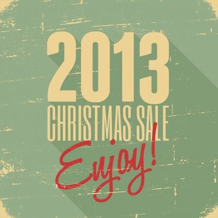 Christmas sale retro poster design. Vector