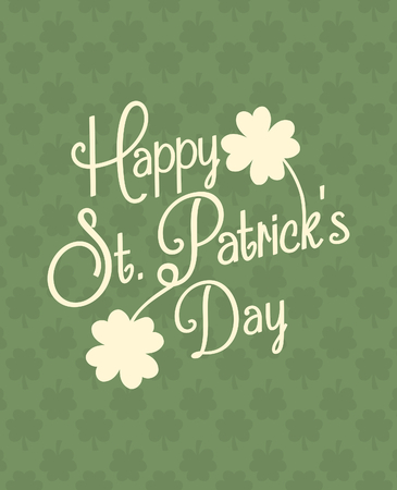 Typographic style greeting card for St. Patricks Day.