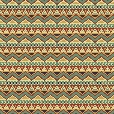 Seamless pattern with colorful ethnic motifs. Vector