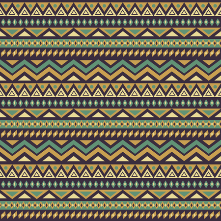 Seamless pattern with colorful ethnic motifs.