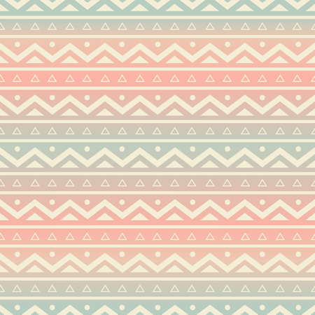 Seamless pattern with ethnic motifs in pastel colors. Vector