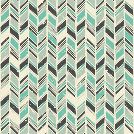 Seamless zigzag pattern in gray and green pastel colors  Vector