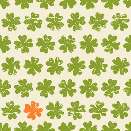 st  patty: Seamless vintage pattern for St  Patrick Illustration