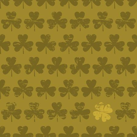 shamrock background: Seamless pattern for St  Patrick