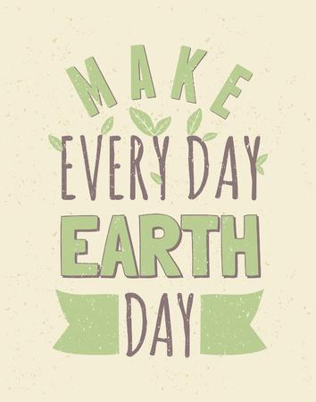 El diseño tipográfico del cartel para el Día de la Tierra
