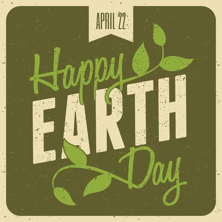 Typographic design poster for Earth Day  Ilustração