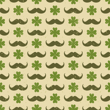 Seamless vintage pattern for St  Patrick s Day Vector