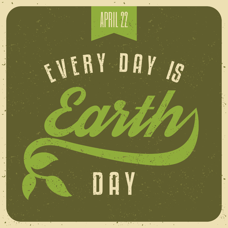 Typographic design poster for Earth Day  Vector