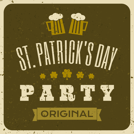 Vintage typographic style St  Patrick s Day design Vector