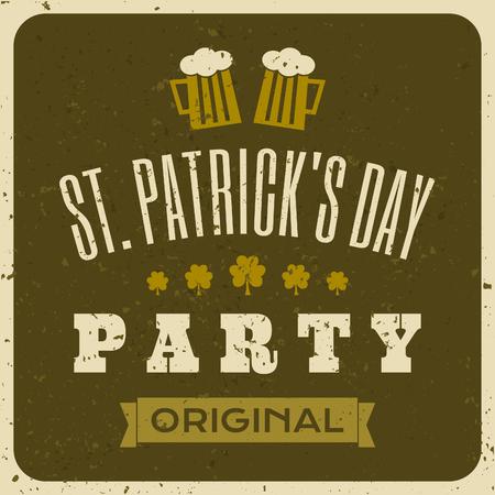 Vintage typographic style St  Patrick s Day design Stock Vector - 27419753