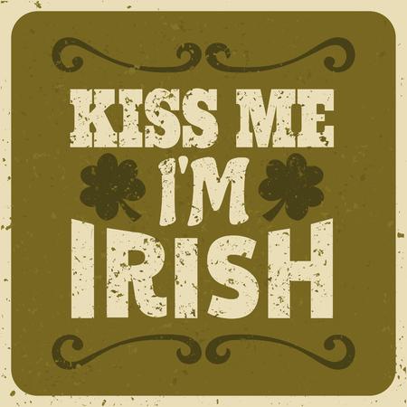 Vintage typographic style St  Patrick s day design