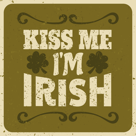 st  patrick s day: Vintage typographic style St  Patrick s day design