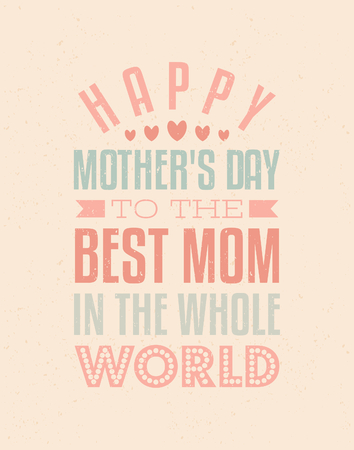 best of: Typographic design greeting card for Mother s day