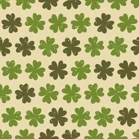 st  patty: Seamless vintage pattern for St  Patrick s Day Illustration