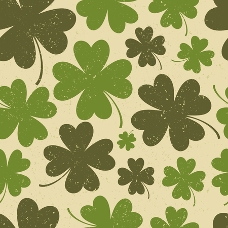 st patty day: Seamless vintage pattern for St  Patrick s Day Illustration