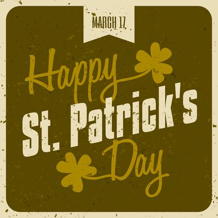 Vintage typographic style St  Patrick s Day design Stock Vector - 27419807