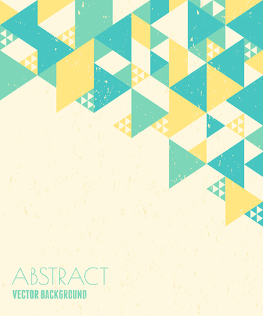 Abstract geometric design in blue, yellow and white with copy space. Vector