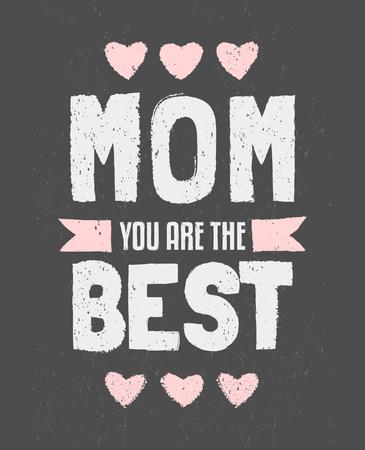 黑板印刷设计贺卡母亲节。
