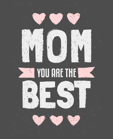 Chalkboard typographic design greeting card for Mothers Day. Vector