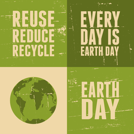 A set of four posters for Earth Day. Vector