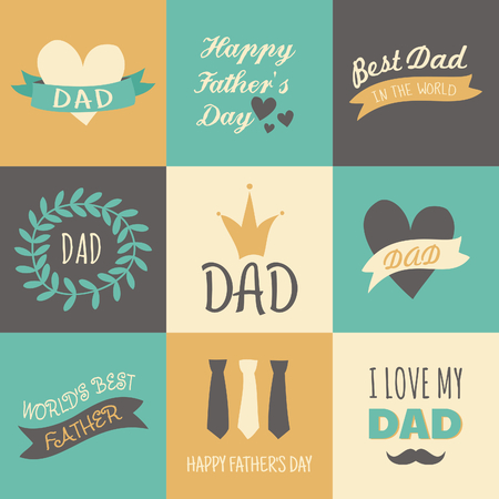 fathers  day: A set of greeting cards for Fathers Day.