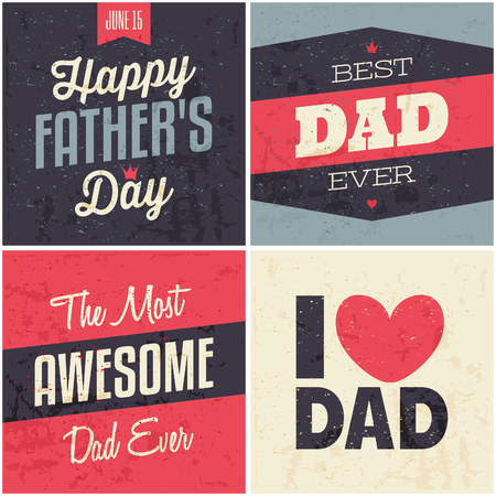 happy fathers day card: A set of greeting cards for Fathers Day.
