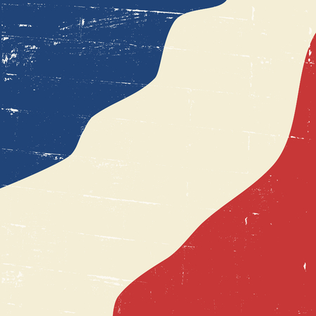 Abstract design vintage distressed French flag. Vector