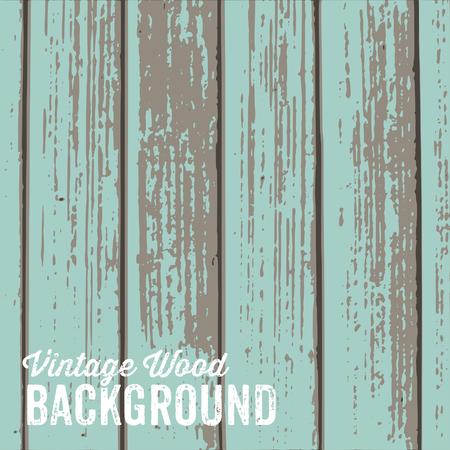 pannello legno: Old texture di sfondo in legno con vernice blu pastello. Vettoriali