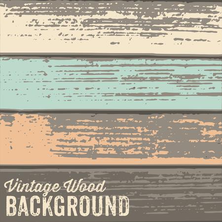 table wood: Oude houten structuur achtergrond met pastel gekleurde verf. Stock Illustratie
