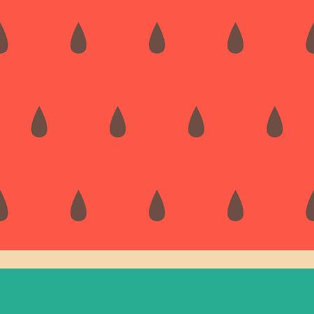 Minimalist style seamless watermelon pattern.