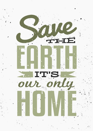 a1: Typographic design poster for Earth Day. Scalable to a standard A0 or A1 poster size. Illustration