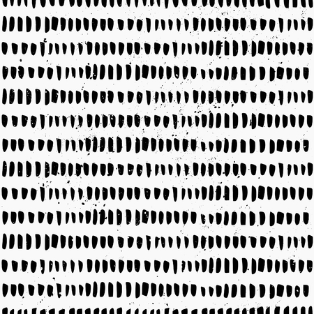 Hand drawn style seamless pattern. Vintage abstract repeat pattern in black and white. Vector