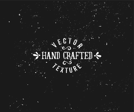 crafted: Subtle vintage texture in black and white. Vector textured effect. Retro style insignia design.