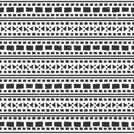 Abstract geometric seamless pattern in black and white. Vector